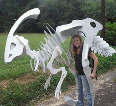 I started with the front of the dinosaur since it doesn't have any moving parts. It quickly became obvious where i would need extra support and duct t...