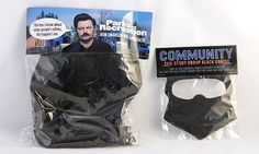 Wig for tv show Parks & Recreation and goatee for tv show Community