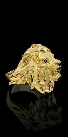 Altın aslan yüzük