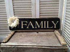 Shabby Chic Black and Tan Family Sign Rustic by SassySouthernCharm