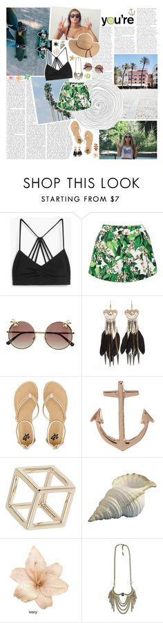"""""""Coachella '16"""" by bellla-zendaya ❤ liked on Polyvore featuring Sephora Collection, MANGO, H&M, 2b bebe, Minor Obsessions, Topshop, éS, Boho Gal and coachella"""