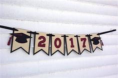 Banner 2019 Graduation, 2019 Graduation Banner, Graduation Decorations, Graduation Banner, Graduation Party Decorations CHOICE OF COLORS - - Graduation Table Centerpieces, Graduation Decorations, Centerpiece Decorations, Graduation Banner, Graduation Gifts, Graduation Ideas, Grad Parties, Handmade Crafts, Tassel