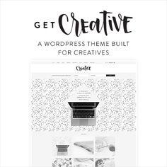 creative WordPress theme for creative bloggers