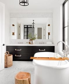 Are you searching for images for farmhouse bathroom? Browse around this site for unique farmhouse bathroom images. This specific farmhouse bathroom ideas appears to be absolutely superb. Guest Bathrooms, Small Bathroom, Master Bathroom, Bathroom Storage, Black Bathrooms, Colorful Bathroom, Double Sink Bathroom, Basement Bathroom, Bathroom Styling