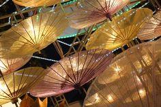 Umbrella festival held in Bo Sang, Thailand every year in January. #Thailand #Travel #Festival #Umbrella