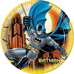 Complete your Batman themed party with these great Batman paper party plates Batman Party Supplies, Online Party Supplies, Marvel Avengers, Hulk, Batman Dark, Batman Feestartikelen, Iron Man, Grandeur Nature, Batman Birthday