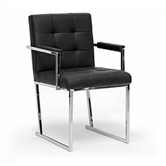 @Overstock - Inspired by the innovative style of the mid-1900s, this 'Collins' accent chair features sleek black faux leather. This club chair is made with a chrome-plated steel frame, an iconic material for furniture construction during the mid-century.http://www.overstock.com/Home-Garden/Collins-Black-Mid-Century-Accent-Chair/6421711/product.html?CID=214117 $161.99