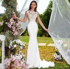 Rochia de mireasa-LUISE. Colectia THE GARDEN STORY by AMANDA DI VELLI-2020. Bridal Dresses, Wedding Gowns, Amanda, Garden, Collection, Fashion, Bride Gowns, Moda, La Mode