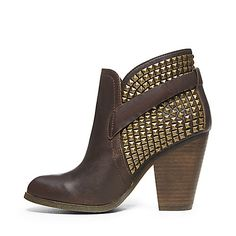 ALANI BROWN LEATHER women's bootie mid casual - Steve Madden