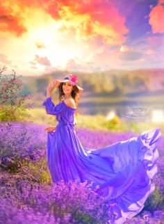 Beautiful Fantasy Art, Beautiful Gif, Motion Design, Photography Photos, Motion Graphics, Lavender, Animation, Photoshoot, Sunset