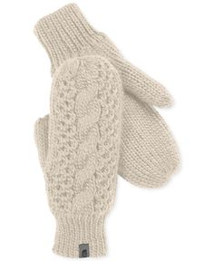 Is the thought of Winter giving you major chills? These might help you warm up to the season ahead —The North Face cable-knit micro-fleece mittens