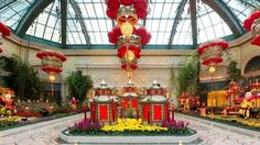 Bellagio Conservatory & Botanical Gardens decked up for the Year of the Goat.