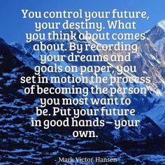 #markvictorhansen #quote #destiny #dreams #goals