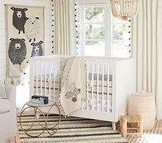 Organic Sleepy Sheep Nursery Bumper Set: Bumper, Crib Fitted Sheet, Crib Skirt