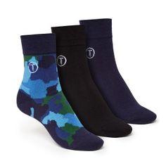 ThokkThokk 3er Pack Mid-Top Socken Camo/Black/Blue