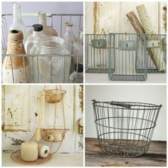 metal baskets:  I love to find these at resale shops to use for collecting eggs.