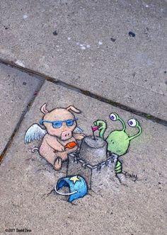 Chalk-Art-street-art-by-David-Zinn-2