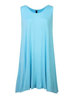 Sale 17% (19.17$) - Casual Women Pure Color O-Neck Sleeveless Loose Vest Dress