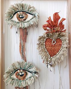 Woven Textile Wall Hangings By Artist Tammy Kanat – Trend Decor for You! Weaving Textiles, Weaving Art, Tapestry Weaving, Hand Weaving, Weaving Wall Hanging, Hanging Wall Art, Mystic Eye, Textile Fiber Art, Boho Diy