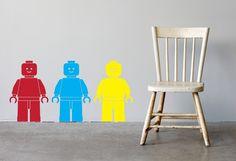 Lego Men wall decals - the vinyl room