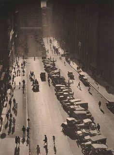 Martin Place, Sydney,by Harold Cazneaux. 1925