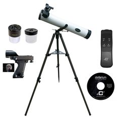 Cassini 800mm x 80mm Astronomical Telescope Kit with Remote Controlled Electronic Focus - White