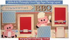 ** My Paper Crafting.com **: BBQ Layout With Jubilee Paper, Complements