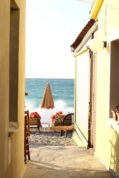 my favourite colour is blue, i think that is why i am so in love with the greek islands! well island, i am staying at kokkari beach on samos. Oh The Places You'll Go, Great Places, Places To Travel, Beautiful Places, Places To Visit, Mykonos, Santorini, Samos Greece, Seaside Style