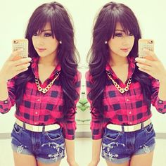 long hair with bangs ..love the hairstyle