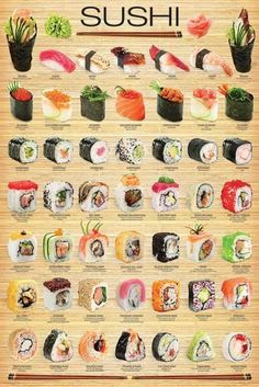 You don't have to go to a Japanese restaurant to enjoy a delectable assortment of sushi! Recipe included on the back of the box. Seared Salmon Recipes, Pan Seared Salmon, Sashimi, Nigiri Sushi, Sushi Sushi, Dessert Chef, Sushi Roll Recipes, Salad Recipes, Cucumber Recipes