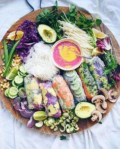 Vegan platter / @talinegabriel