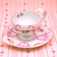 Heart cup and saucer (Rose Italian) - Fairy wish web shopping catalogue. I WANT THEM ALL.