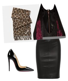 """Red cheetah"" by samantha-griego on Polyvore featuring Coach, Joseph, Christian Louboutin and Ted Baker"