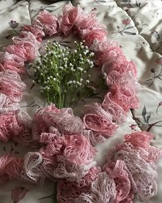 Excited to share the latest addition to my #etsy shop: Dainty frilly pink scarf