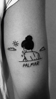 """Tatuaje de """"palmar""""  super <3"""