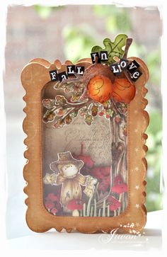 The project 'Scarecrow shakein ' in 'Doohickeybox in love' magazine. Magnolia Blog, E Craft, Kegel, Scrapbooking, Vintage Box, Tampons, Fall Cards, Stencil, Paper Crafts