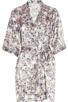 Erdem Fosca floral-print silk-satin robe
