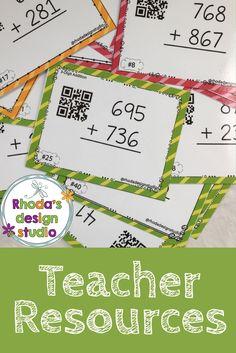 Elementary Teacher Resources. Task cards, interventions, flip books, digital resources, classroom decor.