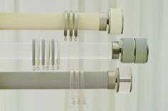 Jago Designs Hand Painted Curtain Poles and finials in the colour of your choice www.jagodesigns.co.uk