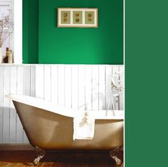 """""""Sico's Emerald Heart (6130-84) is so fresh and perfect for summer,"""" says Houseandhome.com's promotions editor Seema Persaud. """"White accessories just pop against it. I'd love to try this green on an accent wall or on the inside of a bookshelf."""""""