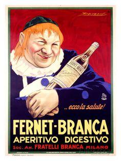 Fernet-Branca reproduction procédé giclée par Achille Luciano Mauzan sur AllPosters.fr