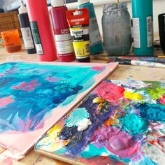 painting workspace Artwork, Painting, Work Of Art, Auguste Rodin Artwork, Painting Art, Artworks, Paintings, Painted Canvas, Illustrators