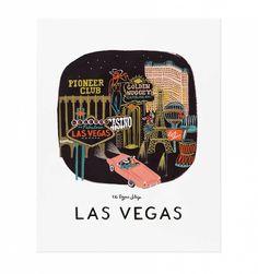 Las Vegas Illustrated Art Print