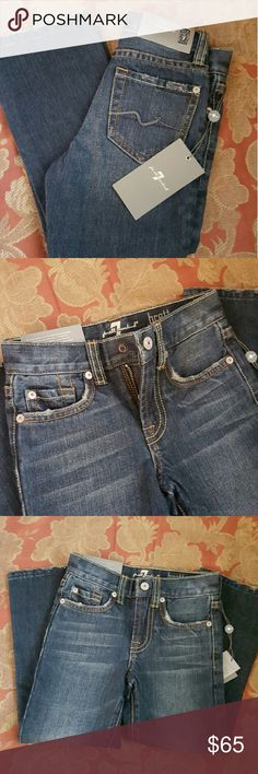Boys Seven7 jeans Brand new with tags. Boys size 4 Seven7 jeans a nice dark denim. Seven7 Bottoms Jeans