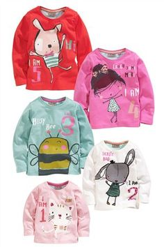 Buy I Am 1,2,3,4,5 Tops (1-5yrs) from the Next UK online shop