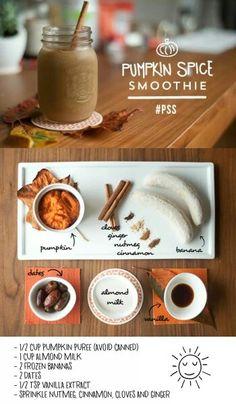 Homemade Pumpkin Spice Smoothie
