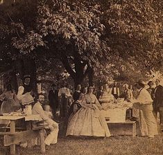 Fourth of July picnic at Mr. James Hunter's, Hestonville, Pennsylvania, 1962, a stereograph by Coleman Sellers,viaLibrary of Congress Prints and Photographs Division. Hestonville is now a n…
