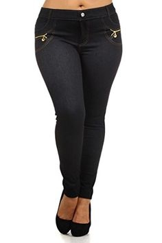 Fashion Mic Womens Pull On Solid Color Assorted Basic Jeggings (XL, zipper black) >>> Check out the image by visiting the link. #WomensLeggings Women's Fashion Leggings, Denim Leggings, Women's Leggings, Jeggings, Leggings Style, Women's Jeans, Flannel Lined Jeans, Denim Fashion, Fashion Fall