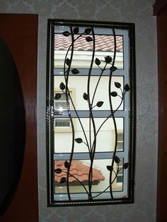 Black And White Window Grill Design