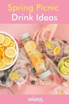 Spring is a great time for outdoor picnics, bbqs and backyard dinners. Here are some great non alcoholic recipes, cocktail ideas and infused water recipes to try this spring. Flavored Water Recipes, Easy Drink Recipes, Alcohol Recipes, Juice Recipes, Tea Recipes, Picnic Drinks, Brunch Drinks, Party Drinks, Cocktail Ideas
